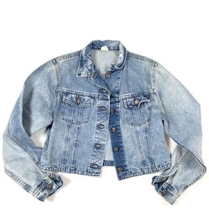 LEE Vintage 1980s Medium Denim Jean Jacket Light